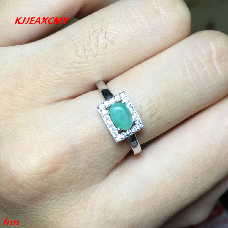 KJJEAXCMY Fine jewelry 925 sterling silver inlaid natural emerald woman ladies ring live mouth color treasure wholesale and reta kjjeaxcmy fine jewelry 925 sterling silver inlaid natural amethyst ring wholesale opening ladies adjustable support testing