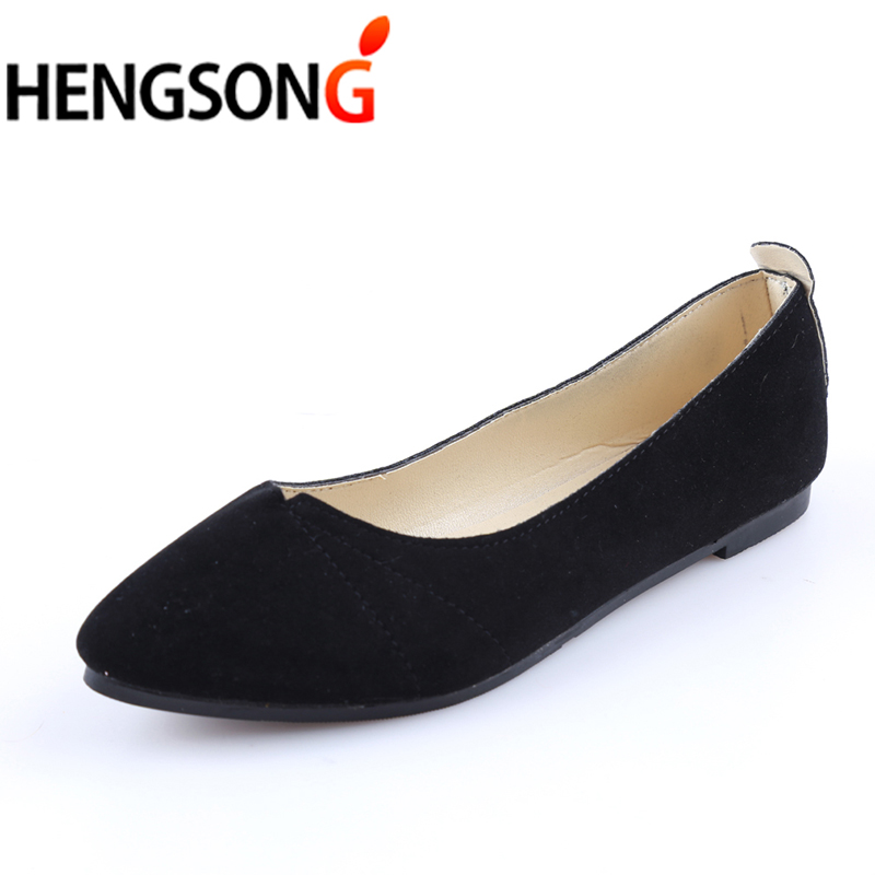 Women Shoes Flock Ballet Flats Female Spring Shoes For Work Cloth Flats Sweet Loafers Slip On Women's Pregnant Flat Shoes 911589 топ спортивный nike nike ni464ewaadv5