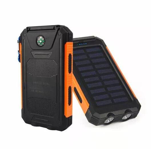 bússola carregador de energia móvel portátil