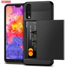 Armor Slide Wallet Credit Card Slot Phone Case for