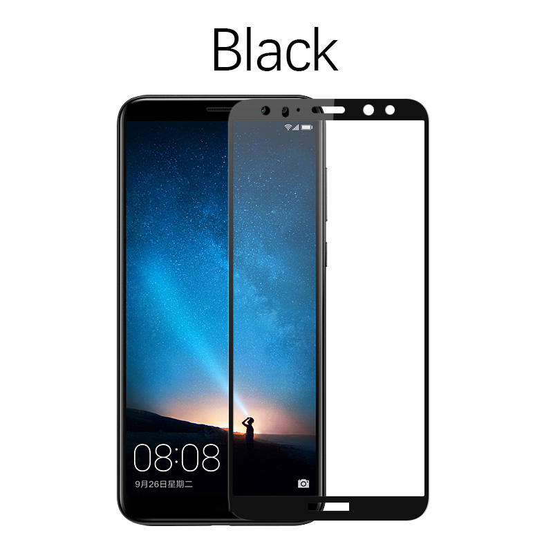 Image 3 - 5D Curved Edge Full Covered For Huawei Mate 10 Lite Tempered Glass Screen Protector-in Phone Screen Protectors from Cellphones & Telecommunications