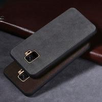 Wangcangli Genuine Leather all inclusive phone case for samsung S9 phone case Rare leather phone protection case