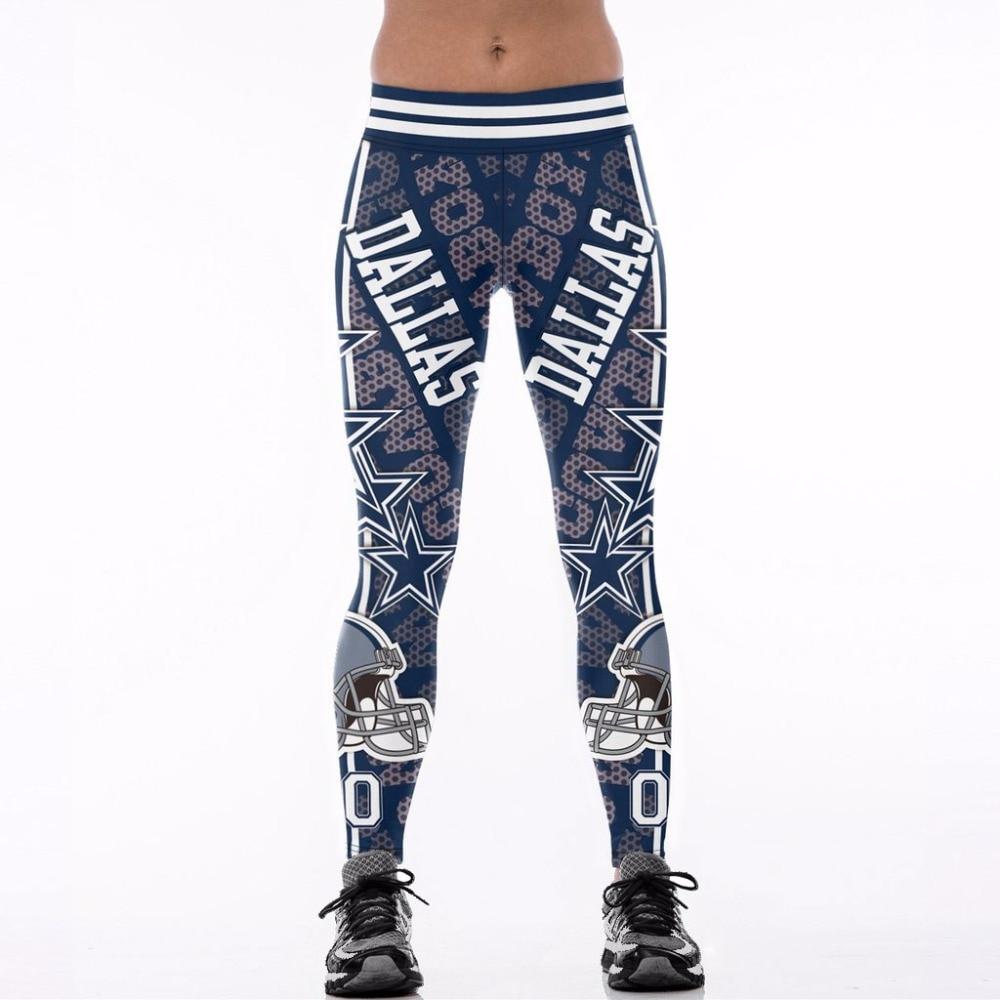 2017 New U.S.A Women Sporting Legging High Waist Footballs Team Casual Pants S-4XL Fitness Activewear Sexy Slim Pants