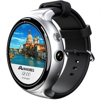 Android OS Smart Watch Amoled Round Screen 3G Wifi GPS Google Maps Smartwatch 2G 16G SIM Card Phone HD Camera Heart Rare Monitor