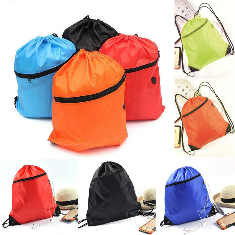 2019 Hot Unisex Solid Drawstring Bag Large Capacity Storage Bags Fashion Portable Sport Travel Pack