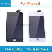 Класс AAA для iPhone 5 ЖК-дисплей для iPhone5 5 г с сенсорным экраном планшета Ассамблеи Замена Белый/Черный Нет битых пикселей