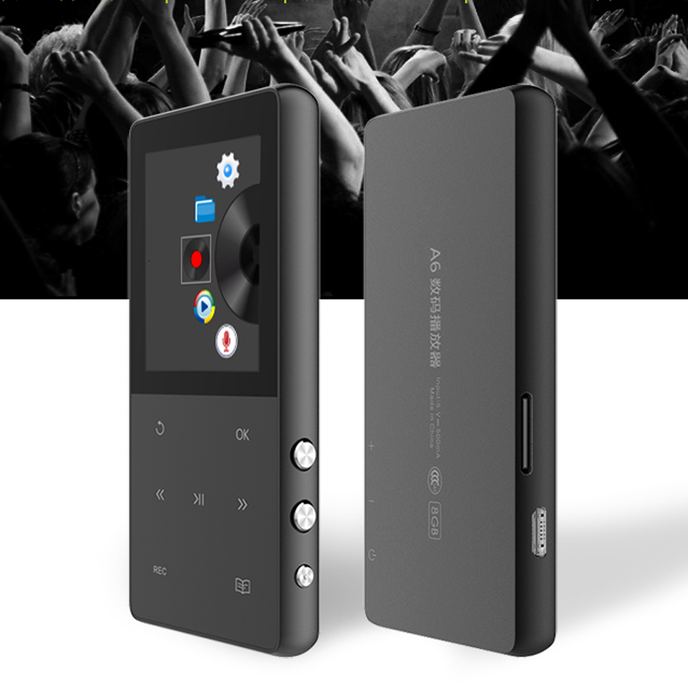 Touch Key HIFI Metal 8GB Sport MP4 Player with Voice Recorder, FM Radio, Pedometer, Music Video Player Support TF Card Up to 64G цена 2017
