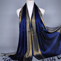 Plain fashoin printe glitter tassels cotton lurex plaid stripe scarf long hijab muslim scarves/scarf