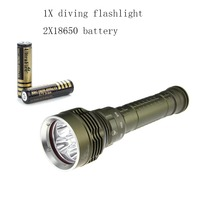 Ultrafire 5 LED diving flashlight XM L2 linterna antorcha18650 bateria recargable linterna Led Luz Iluminacion Acampar 2*18650