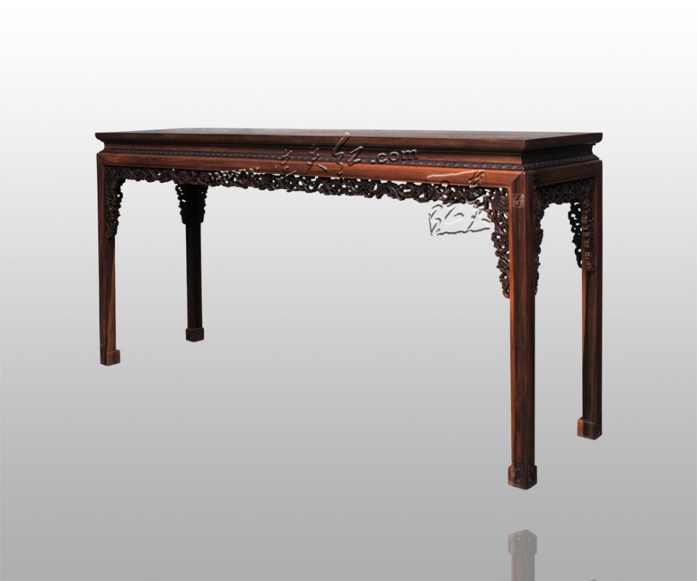 The western scroll grass pattern console table burmase for Table th no scroll