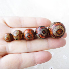 лучшая цена Tibetan Dzi beads Natural agate Stone Buddhism Round Tortoise shell Loose bead ball 6/8/10/12/14MM beads for DIY jewelry making