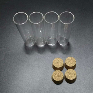 Image 2 - 12 adet/grup 30*100mm 50ml düz tabanlı cam test tüpü mantar tıpa ile çapı 30mm uzunluk 100mm