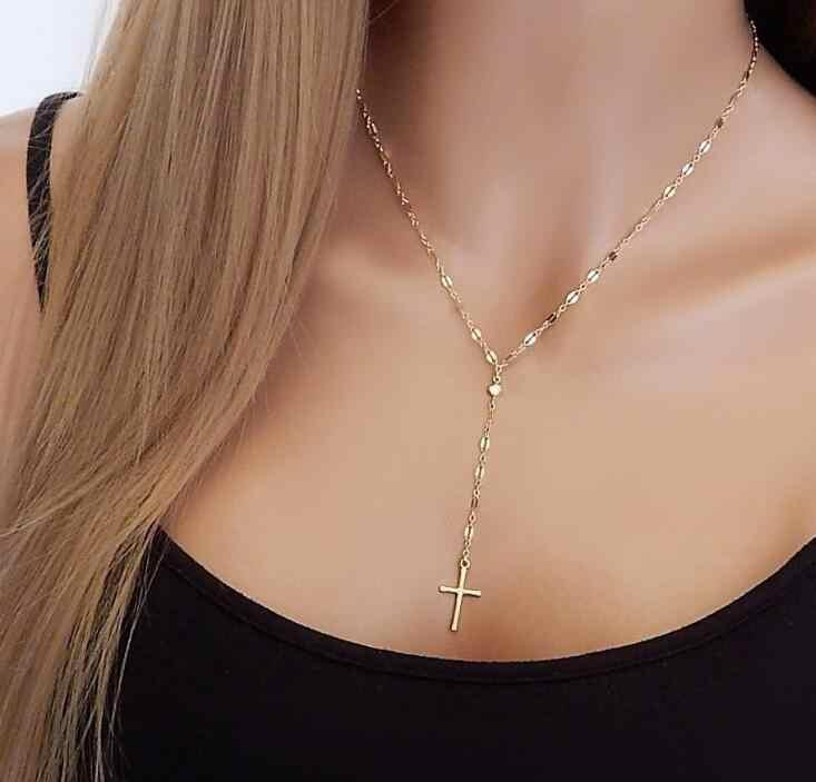 Turecki Evil Eye ręczny wisiorek naszyjnik kobiet srebrny złoty kolor biżuteria Hollow Out obojczyka Link łańcuchy