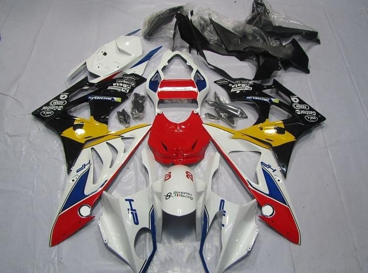 New ABS Fairings Fit For BMW S1000RR 09-14 1000RR 2009 - 2014 Injection Motorcycle Fairing Kit Bodywork set Custom Red white image