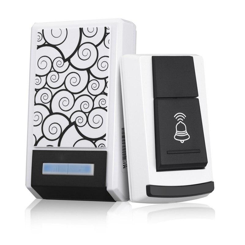 Digital Single Receiver 36 Tunes Wireless 100M Range Remote Control Home Gate Security Door Bell Waterproof Smart LED Doorbell