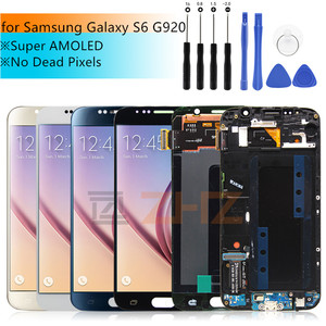 Image 1 - lcd display for samsung galaxy s6 lcd screen display touch digitizer with frame for G920 G920f for samsung s6 lcd repair parts