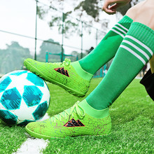Men Football Boots Soccer Cleats Boots TF Spikes Children An