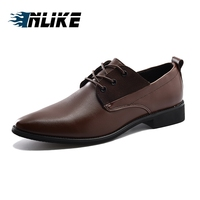 c6213857a4 INLIKE Men Office Shoes Genuine Slipt Leather Men Dress Shoes Social Sapato  Male Soft Leather Wedding