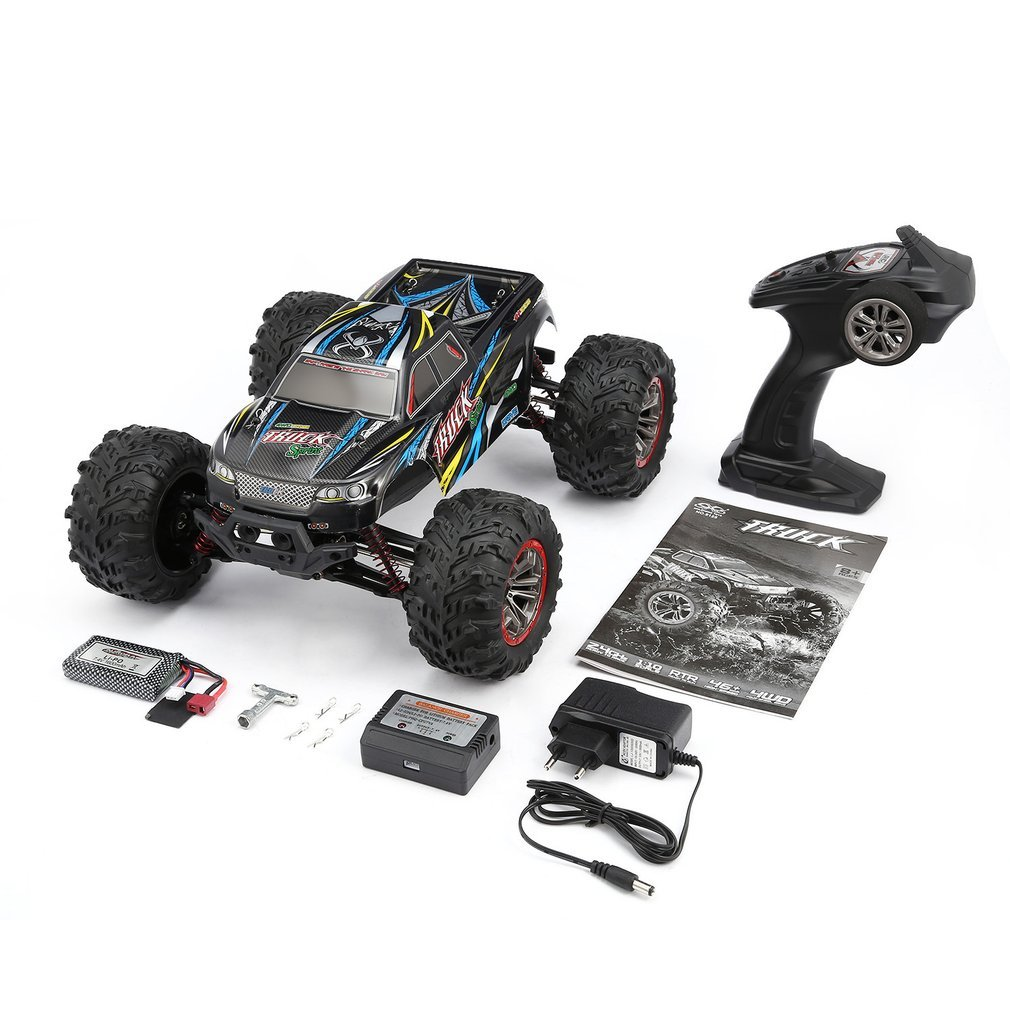 High Quality 9125 4WD 1/10 High Speed 46km/h Electric Supersonic Truck Off-Road Vehicle Buggy RC Racing Car Electronic Toys RTR hongnor ofna x3e rtr 1 8 scale rc dune buggy cars electric off road w tenshock motor free shipping
