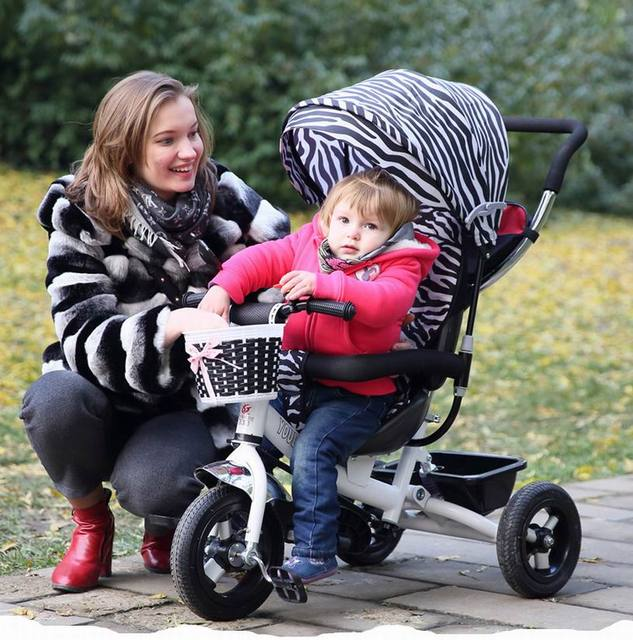 2016 good quality  lovely Baby child tricycle trolley baby stroller baby carriage bike bicycle for 6 month--6 years old