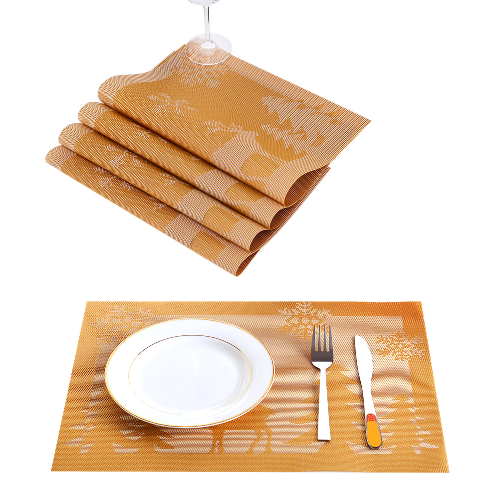 12*18 In Pvc Placemat Heatresistant Woven Placemat Stainresistant Anti