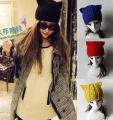 Children's Cap Autumn Winter Warm 100%Hand Knit Wool Beanie Outdoor Hat Women's Cat Ear Cap