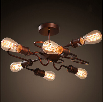 American country loft industrial vintage edison ceiling lights for home lightings clothing storelustre lamparas