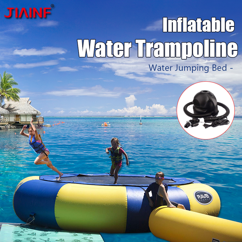 JIANIF Inflatable Water Trampoline 3/4/5m Diameter 0.6mm PVC Inflatable Bouncer Outdoor Fun Sports for Personal Customized