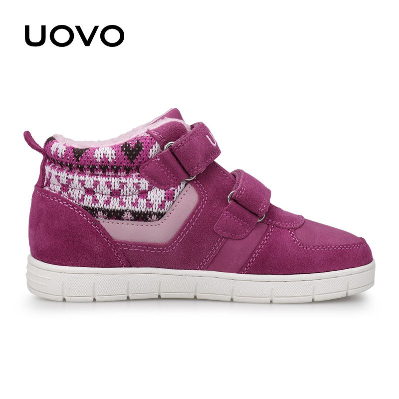 Image 5 - UOVO Kids Casual Shoes 2019 New Fashion Boys And Girls Sneakers Autumn Winter Kids School Shoes Childrens Footwear Size 27# 35#Sneakers   -