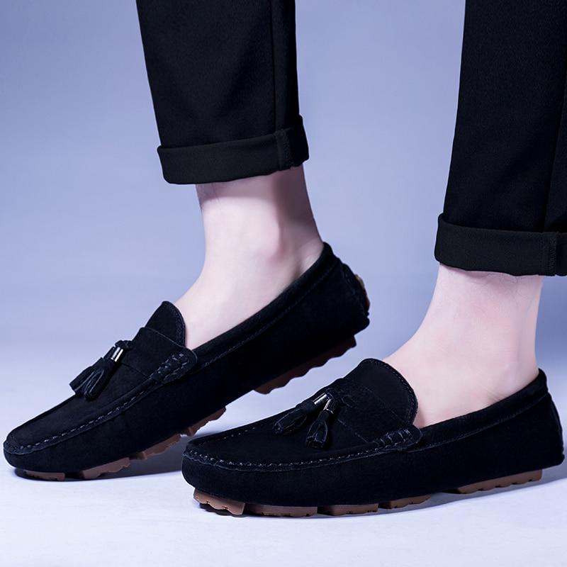Léger Pour Automne Brun Conduite Chaussures red khaki Gland Homme Des Mocassins Printemps brown gray Hommes Casual blue Glissement Sur Kaki Black nX1pxwO