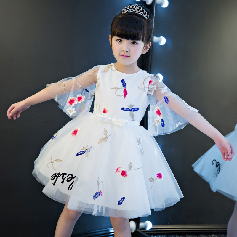 Korean Sweet Summer Birthday Party Wedding Special Occasi Princess kids dresses for girls clothes Ball Gown Embroidery Dresses mitigating high capital risk exposure to small cap sector in india
