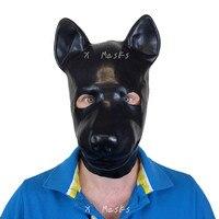 Rubble Dog Masks Anatomical Black Latex Female Rubber Masks Fetish Condom Sex Mask customized catsuit costume large size Male
