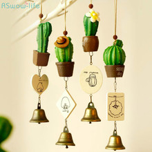 Creative Wind Chime Ornaments Succulent Cactus Childrens Day Gifts Home Furniture Decorations