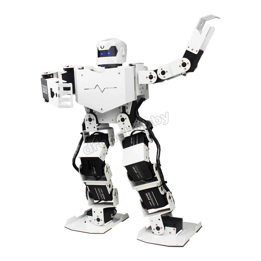 16DOF Humanoid Bipedal Robot with MP3 High precision digital Servos all metal Contest Dance Robot for Arduino robotic Education цена