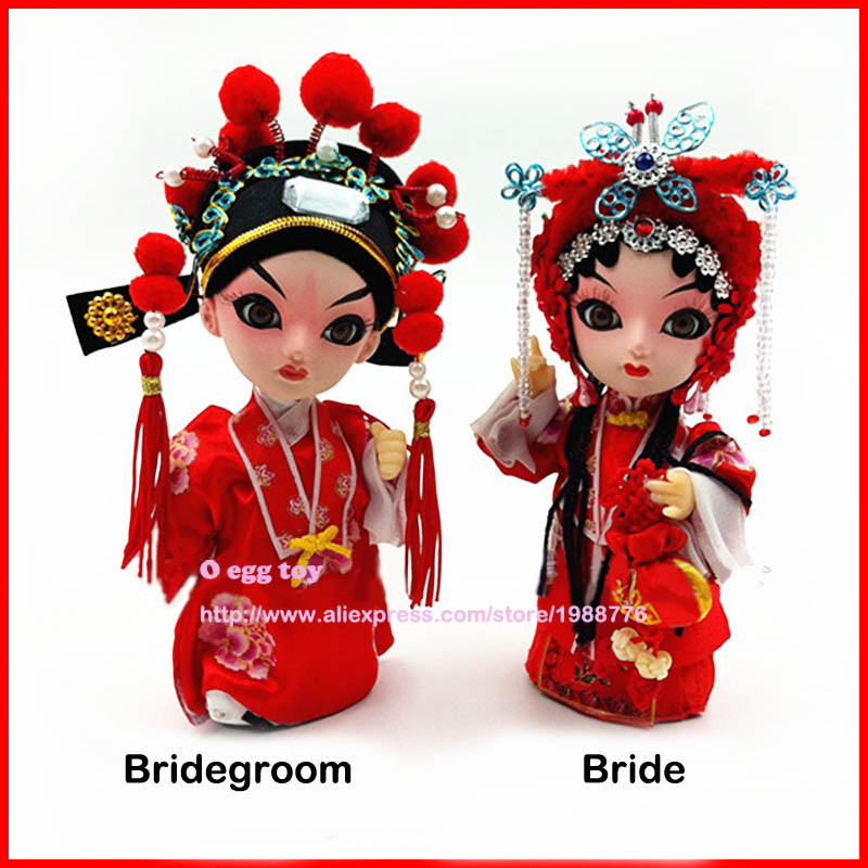 Red Bride and Bridegroom doll Ancient Chinese dolls Authentic simulation dolls Chinese wedding collection for wedding Gifts handmade ancient chinese dolls 1 6 bjd jointed doll empress zhao feiyan dolls girl toys birthday gifts