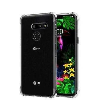 Перейти на Алиэкспресс и купить Прозрачный Прочный чехол на LG G8s G8X G8 G7 Fit G6 V50S V50 V40 V30 V20 Thinq K11 K40 K50 K40S K50S усиленная задняя крышка