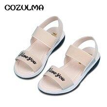 323f349e07 COZULMA Estilo Verão Meninas Sandálias Crianças Chinelos de Praia Crianças  Slip-Resistente de Couro Sapatos de Meninas Princesa .