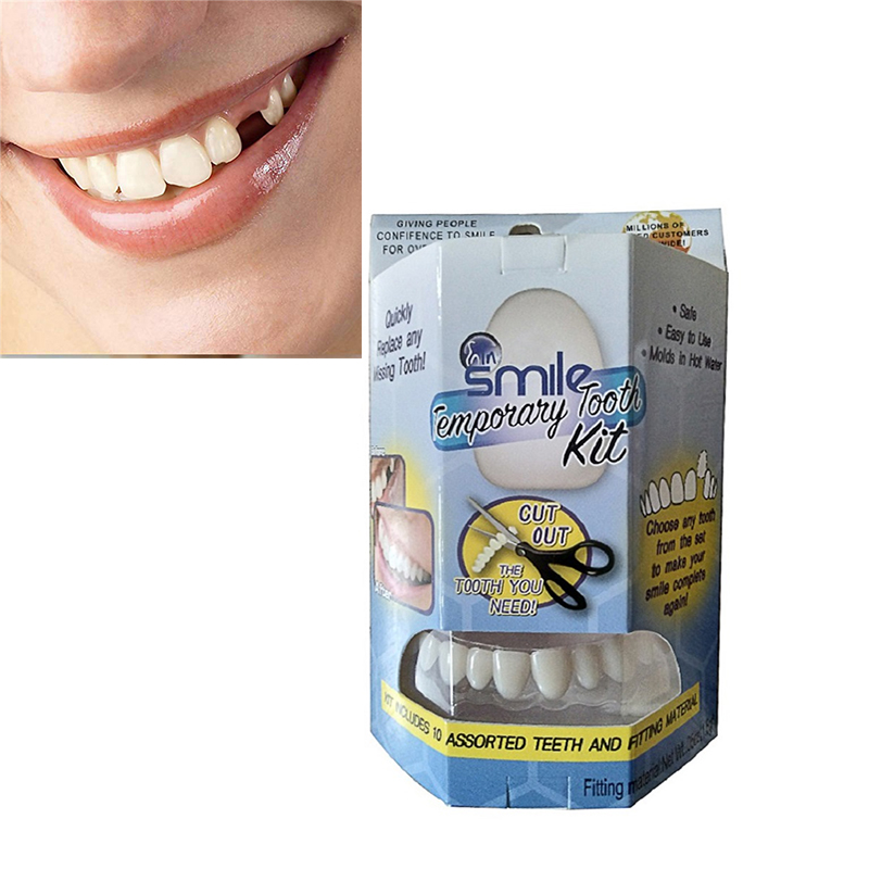 Smile Temporary Dental Stickers Tooth Kit Replace Missing Tooth in Minutes Does not stain oro facial pain not just tooth ache