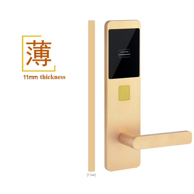 Super Slim Hotel Door Lock System Using Rfid Card 125KHzSuper Slim Hotel Door Lock System Using Rfid Card 125KHz