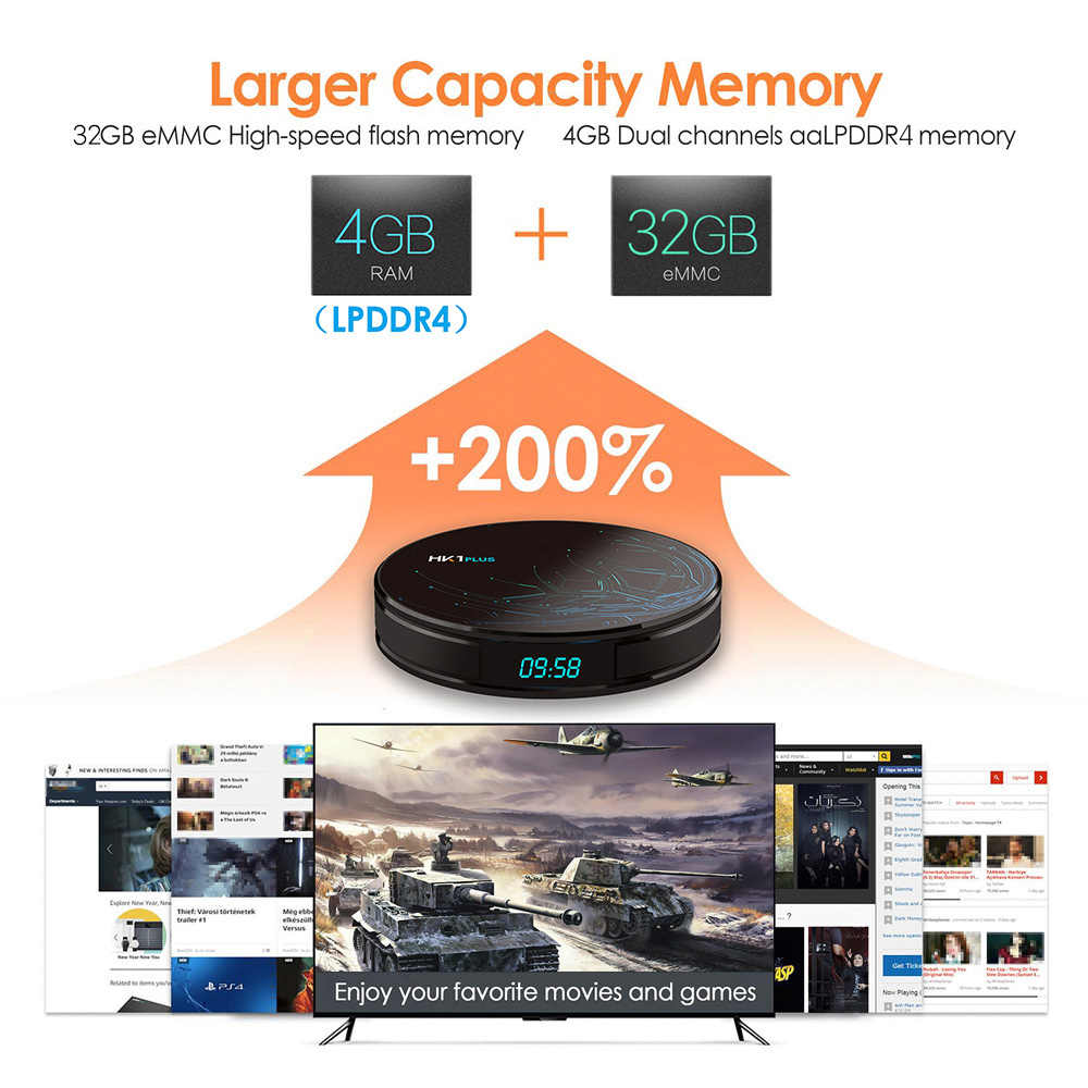 QHDTV 1 an IPTV France abonnement arabe Android 8.1 HK1 PLUS 4G + 32G BT WIFI bi-bande IPTV belgique pays-bas France IPTV
