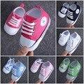 1 Par Estrenar Casual Primavera Otoño Zapatos de Bebé Recién Nacido Muchacha del muchacho de los Deportes Zapatos de Los Niños Primeros Caminante Zapatos de Lona MY1733
