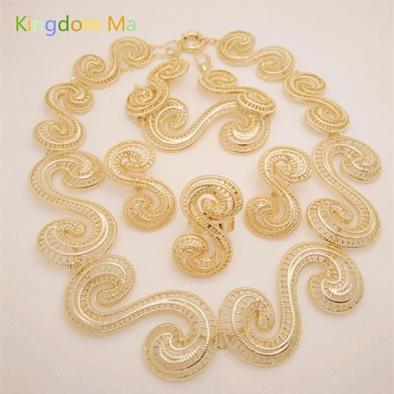 NEWS Kingdom Ma Nigerian Wedding African Beads Zinc Alloy Jewelry Sets Dubai Jewelry Sets Necklace Bracelet