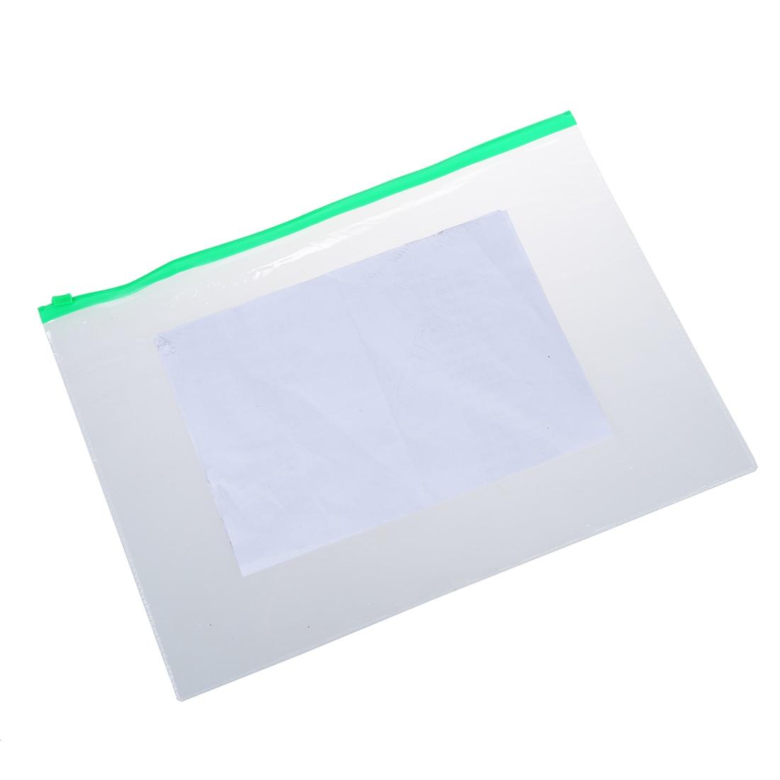 Office & School Supplies File Folder Smart 20 Pieces A5 Paper Size Blue Slider Grip Handle Zipper Transparent Envelopes For Folder Folder