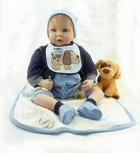 22 zoll Vinyl Babys Reborn Puppen Realistische Lebendig 55 cm Neugeborenen Baby handgemachten lebensechte echt touch bebe Bonecas Rebron kleinkinder