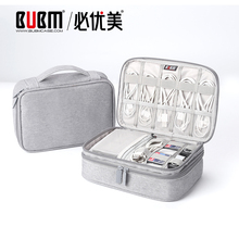 BUBM Portable Cable Bag,  Digital USB Gadget Organizer Wires Charger Cosmetic Zipper Bag Power Bank Sleeve with Ipad pouch