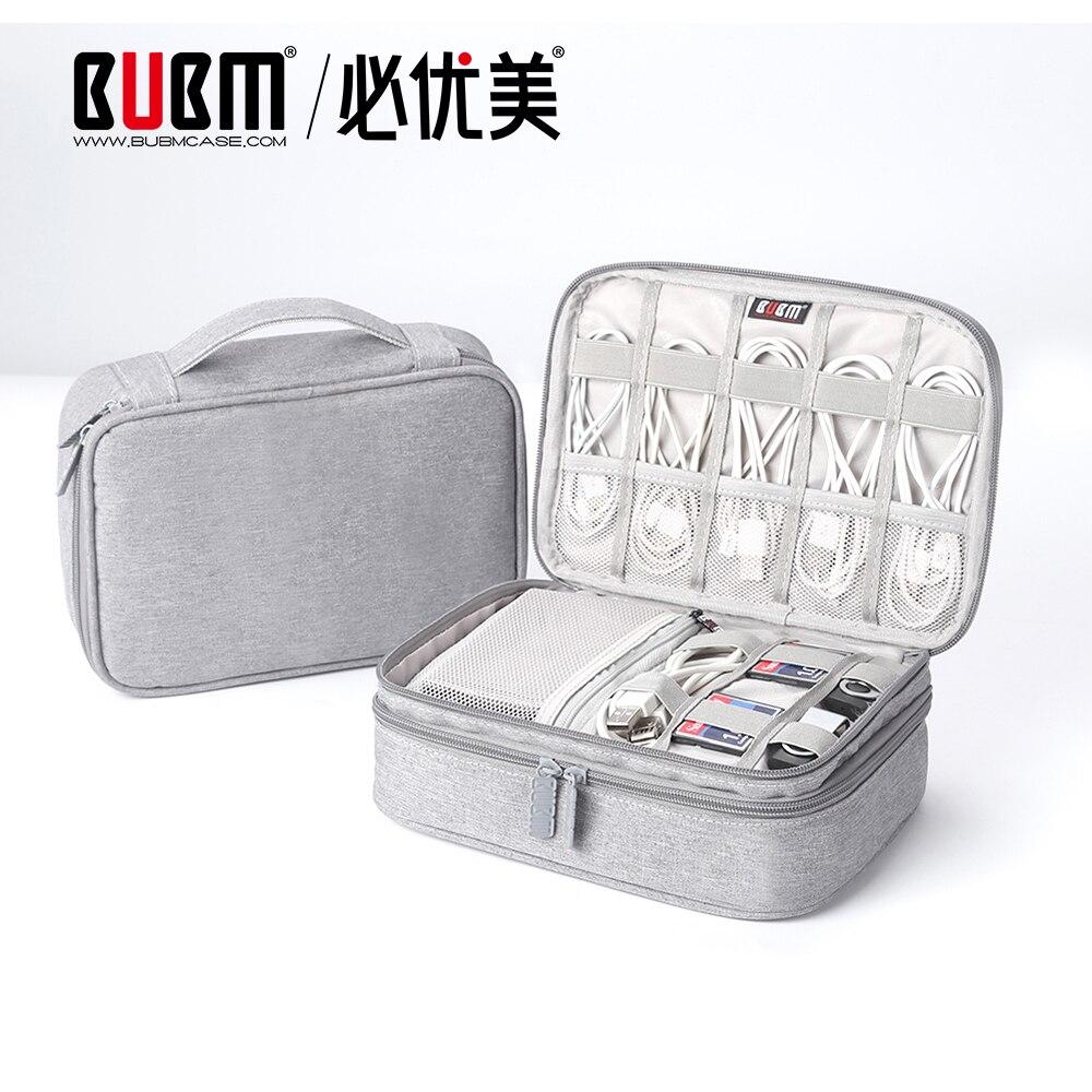 Estuche BUBM portátil electrónica accesorios de viaje Cable organizador personalizado Cable bolsa de bolsa para Cables USB Flash Drive etc Apto para iPad