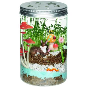 Creative Terrarium Garden Grow Grass Toy Sleep Led Light Kids