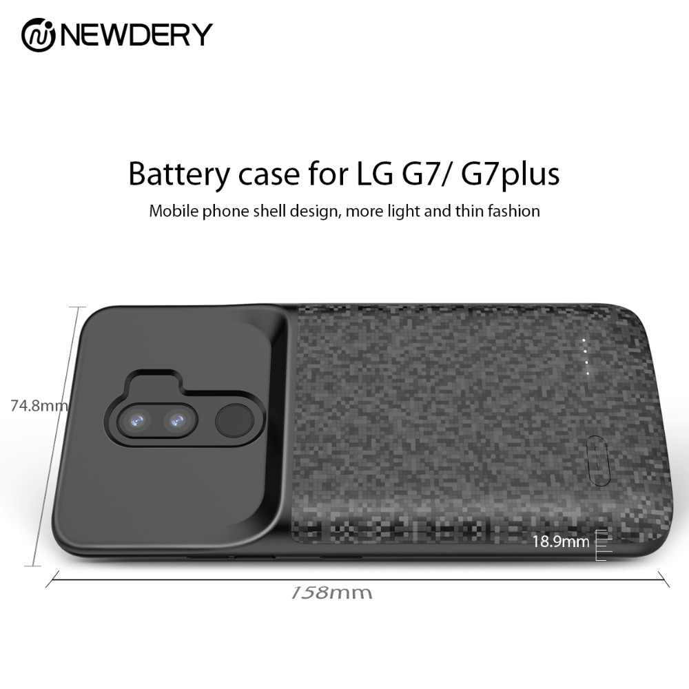 Newdery 4700 Mah Battery Charger Case Voor Lg G7 Thinq/G7 Plus G7 + Zachte Tpu Ultra Slanke Externe pack Backup Power Bank Case
