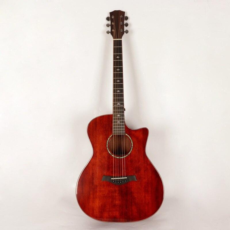 vintage acoustic guitar professional solid top retro guitar