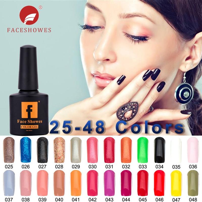 FACESHOWES 7ML1Bottle Gel Nail Polish Design Hot Sale N